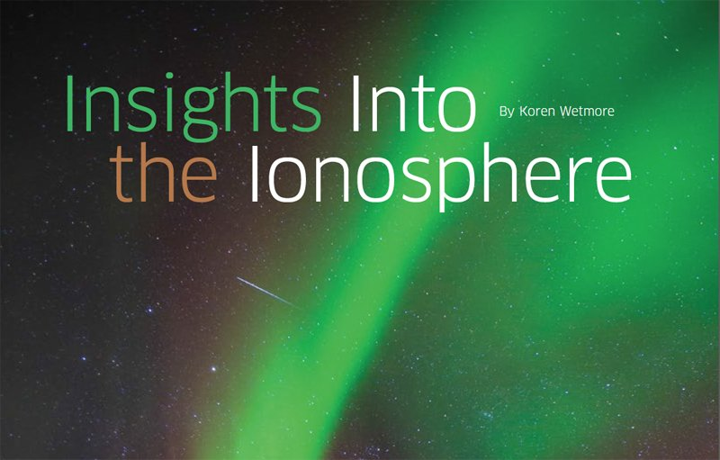 Research Brief: Insights Into the Ionosphere